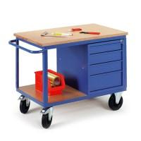 Werkstattwagen mit Schubladenschrank 07-4308 1250x700mm, Tragkraft 500kg  | günstig bestellen bei assistYourwork