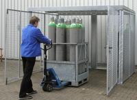 Gasflaschen-Container GFC-M 5, mit Dach für max.104 Gasflaschen | günstig bestellen bei assistYourwork