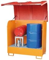 Gefahrstoff-Depot GD-B, verzinkt für 2 Fässer á 200 l | günstig bestellen bei assistYourwork