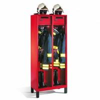 Evolo Feuerwehrschrank 1-100448, Füße, 1 Abteil, Wertfach, klappbarer Helmhalter auf Schrankdach | günstig bestellen bei assistYourwork