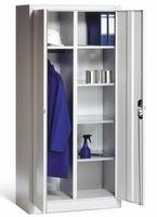 Materialschrank mit Garderobenteil 1-100024 HxBxT 1950 x 930 x 500 mm | günstig bestellen bei assistYourwork