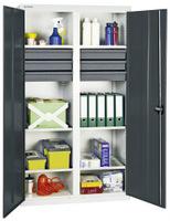 Materialschrank 3004271, HxBxT 1800x1000x500mm, 6 verzinkte Wannen, 6 Schubladen   günstig bestellen bei assistYourwork