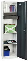 Säulenschrank 3005171, HxBxT 1800x500x500mm, 3 verzinkte Wannen, 2 Schubladen | günstig bestellen bei assistYourwork