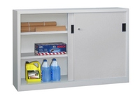 PAVOY Schiebetürenschrank, HxBxT 1000x1500x400mm, je Seite 2 gepulverte Einlegeböden | günstig bestellen bei assistYourwork