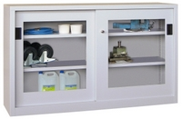 PAVOY Schiebetürenschrank, HxBxT 1000x1500x400mm, je Seite 2 verzinkte Einlegeböden,  | günstig bestellen bei assistYourwork
