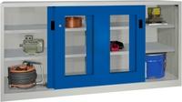 PAVOY Schiebetürenschrank, HxBxT 1000x2000x600mm, je Seite 2 verzinkte Einlegeböden | günstig bestellen bei assistYourwork