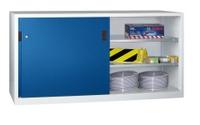 PAVOY Schiebetürenschrank, HxBxT 1000x2000x600mm, je Seite 2 gepulverte Einlegeböden | günstig bestellen bei assistYourwork