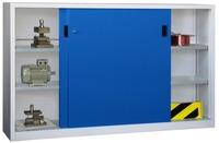 PAVOY Schiebetürenschrank, HxBxT 1200x2000x400mm, je Seite 2 verzinkte Einlegeböden | günstig bestellen bei assistYourwork