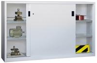 PAVOY Schiebetürenschrank, HxBxT 1200x2000x500mm, je Seite 2 gepulverte Einlegeböden | günstig bestellen bei assistYourwork