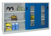 PAVOY Schiebetürenschrank, HxBxT 1200x2000x500mm, je Seite 2 verzinkte Einlegeböden | günstig bestellen bei assistYourwork