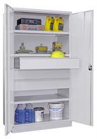 Schwerlastschrank 1950x1040x630mm, 3 Fachböden, 3 Schubladen | günstig bestellen bei assistYourwork