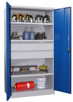 Schwerlastschrank 1950x1040x630mm, 3 Fachböden, 2 Schubladen | günstig bestellen bei assistYourwork