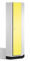 Eckschrank S 6000 CAMBIO, durchgehende Stahltür, doppelwandig | günstig bestellen bei assistYourwork