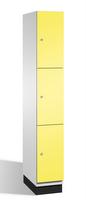 Fächerschrank S 6000 CAMBIO, 3 Fächer hoch, 3x1 Abteil á 300mm, Stahltüren doppelwandig | günstig bestellen bei assistYourwork
