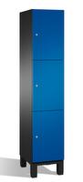 Fächerschrank S 6000 CAMBIO, 3 Fächer hoch, 3x1 Abteil á 400mm, Stahltüren doppelwandig | günstig bestellen bei assistYourwork