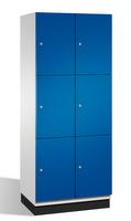 Fächerschrank S 6000 CAMBIO, 3 Fächer hoch, 3x2 Abteile á 400mm, Stahltüren doppelwandig | günstig bestellen bei assistYourwork