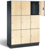 Fächerschrank S 6000 CAMBIO, 3 Fächer hoch, 3x3 Abteile á 400mm, mit HPL-Dekortüren | günstig bestellen bei assistYourwork
