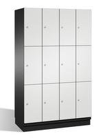 Fächerschrank S 6000 CAMBIO, 3 Fächer hoch, 3x4 Abteile á 300mm, Stahltüren einwandig | günstig bestellen bei assistYourwork