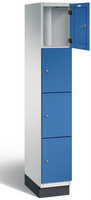 Fächerschrank S 6000 CAMBIO, 4 Fächer hoch, 4x1 Abteil á 300mm, Stahltüren einwandig | günstig bestellen bei assistYourwork