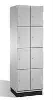 Fächerschrank S 6000 CAMBIO,4 Fächer hoch, 4x2 Abteile á 300mm, Stahltüren doppelwandig | günstig bestellen bei assistYourwork