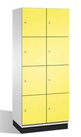 Fächerschrank S 6000 CAMBIO,4 Fächer hoch, 4x2 Abteile á 400mm, Stahltüren doppelwandig | günstig bestellen bei assistYourwork