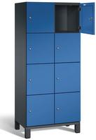 Fächerschrank S 6000 CAMBIO, 4 Fächer hoch, 4x2 Abteile á 400mm, Stahltüren einwandig | günstig bestellen bei assistYourwork