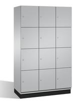Fächerschrank S 6000 CAMBIO,4 Fächer hoch, 4x3 Abteile á 400mm, Stahltüren doppelwandig | günstig bestellen bei assistYourwork