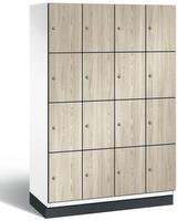 Fächerschrank S 6000 CAMBIO, 4 Fächer hoch, 4x4 Abteile á 300mm, mit HPL-Dekortüren | günstig bestellen bei assistYourwork