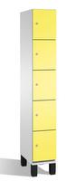Fächerschrank S 6000 CAMBIO, 5 Fächer hoch, 5x1 Abteil á 300mm, Stahltüren doppelwandig | günstig bestellen bei assistYourwork