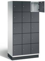 Fächerschrank S 6000 CAMBIO, 5 Fächer hoch, 5x3 Abteile á 300mm, Stahltüren einwandig | günstig bestellen bei assistYourwork