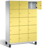 Fächerschrank S 6000 CAMBIO, 5 Fächer hoch, 5x3 Abteile á 400mm, Stahltüren einwandig   günstig bestellen bei assistYourwork