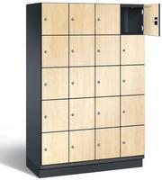 Fächerschrank S 6000 CAMBIO, 5 Fächer hoch, 5x4 Abteile á 300mm, mit HPL-Dekortüren | günstig bestellen bei assistYourwork