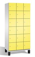 Fächerschrank S 6000 CAMBIO, 6 Fächer hoch, 6x3 Abteile á 300mm, Stahltüren doppelwandig | günstig bestellen bei assistYourwork