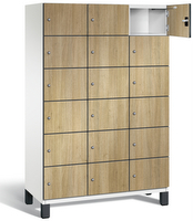 Fächerschrank S 6000 CAMBIO, 6 Fächer hoch, 6x3 Abteile á 400mm, mit HPL-Dekortüren | günstig bestellen bei assistYourwork