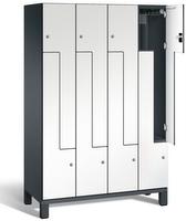 Z-Garderobenschrank S 6000 CAMBIO, Breite 1200 mm, für 8 Personen, HPL-Dekortüren | günstig bestellen bei assistYourwork