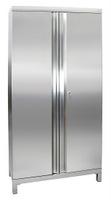 CABINOX Edelstahl-Schrank 470-021-40, mit Vierkantfüßen, HxBxT 1900x900x400mm | günstig bestellen bei assistYourwork