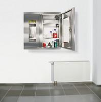 CABINOX Hänge-Edelstahlschrank mit Sichtfenster 470-010-21, HxBxT 900x900x400mm | günstig bestellen bei assistYourwork