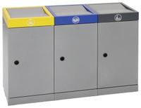 Abfall-Station ProTec-Plus 607-030-0-2-030 3-fach Station, 3x30 Liter | günstig bestellen bei assistYourwork