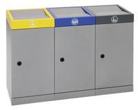 Abfall-Station ProTec-Plus 607-070-0-2-030 3-fach Station, 3x70 Liter | günstig bestellen bei assistYourwork
