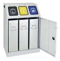 Abfalltrennung Triplex 635-075-0-2-300 3-fach Sammler, 3x30 l  | günstig bestellen bei assistYourwork