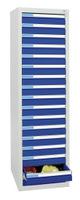 Schubladenschrank Serie ESTA-5, 7605107 Semi-Schwerlast 75kg-Schublade, 17 Schubladen | günstig bestellen bei assistYourwork