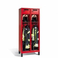 Evolo Feuerwehrschrank 1-100445, mit Füßen, 2 Abteile, Wertfach mit klappbarem Helmhalter | günstig bestellen bei assistYourwork