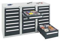 Schubladenschrank Serie T100-35, 8153271 21 Schubladen mit Teleskopauszügen   günstig bestellen bei assistYourwork