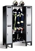 Evolo Feuerwehr-Garderobe 48615-022 für 2 Personen BxHxT: 1260x1850x500mm | günstig bestellen bei assistYourwork