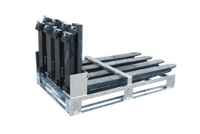 Gabelzinkenpalette GZP 8 feuerverzinkt zur Lagerung von max. 8 Gabelzinken | günstig bestellen bei assistYourwork