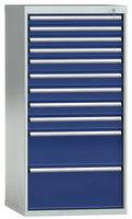 Schubladenschrank 1450 x 725 x 750 mm, 11 Schubladen 200 kg mit Vollauszug   günstig bestellen bei assistYourwork