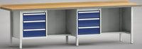 Werkbank-Profi 3000 mm, G382-3000-1631, Links je 3 Schubladen, Flächenlast 3000 kg | günstig bestellen bei assistYourwork