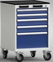 Profi - Werkzeugwagen, FEA0700-05EPV-001, Höhe 915 mm, 5 Schubladen | günstig bestellen bei assistYourwork