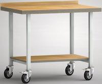 Fahrbarer Werktisch-Standard 1000 mm, WS819N-1000M40-X0003, unten Ablageboden   günstig bestellen bei assistYourwork
