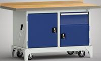 Fahrbare Werkbank-Standard 1500 mm, WS782N-1500M40-E7064, Kipphebel   günstig bestellen bei assistYourwork